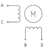 Silnik krokowy bipolarny - 4 przewody